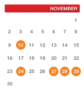 The Definitive 2014 Holiday Email Marketing Schedule for November