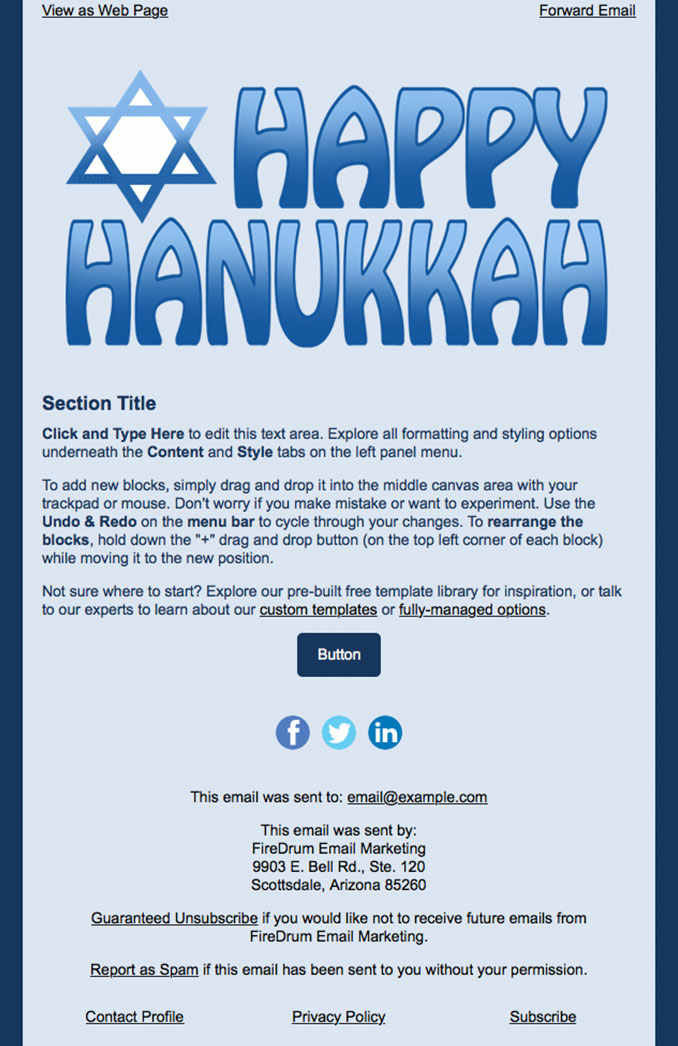 3 Of The Best Email Marketing Templates For Hanukkah And Christmas