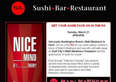 Custom Designed Email for Sushi Restaurant