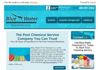 Blue Wate Pool Chemical