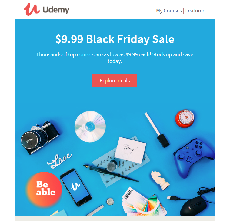 Show Your Black Friday Offers First in Email Headline